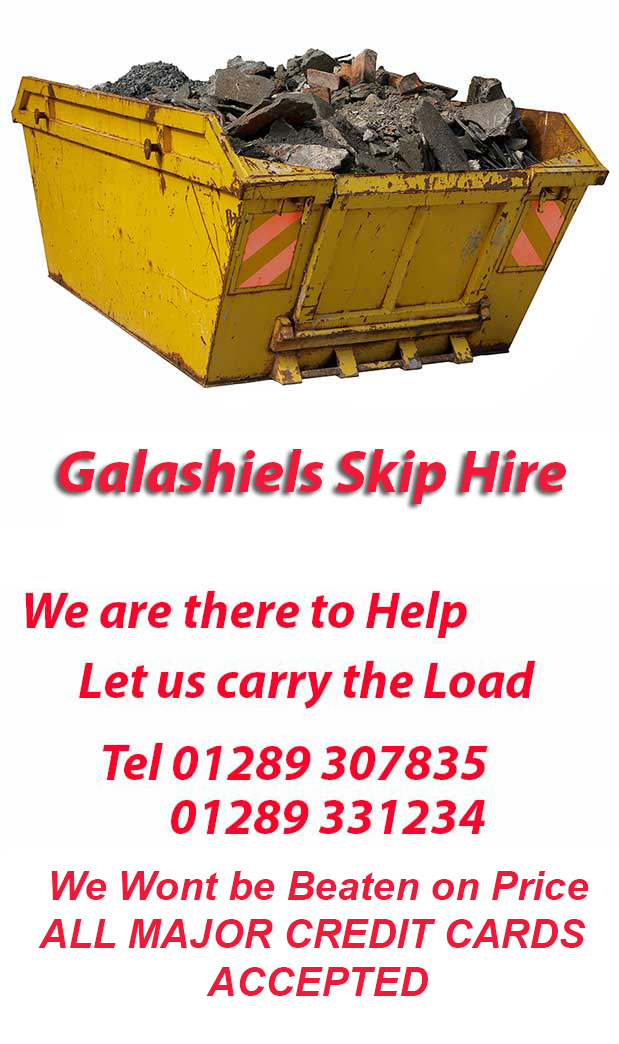 Galashiels Skip Hire NE70 Postcode area contact